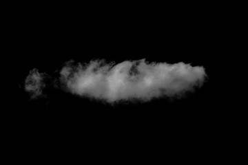 Cloud on a black background - isolate