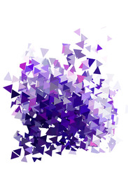 Abstract violet triangles template background