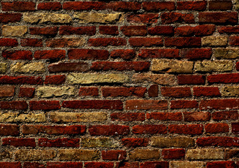Old texture of wall, backround with bricks