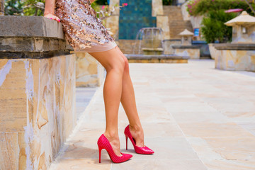 Woman in high heels