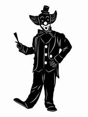 illustration of clown, vector draw