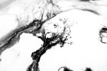 Abstract ink background. Moving liquid paint in water