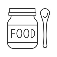 Baby food linear icon