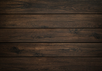 Dark wood background. Wooden board texture. Structure of natural plank. Wall mural