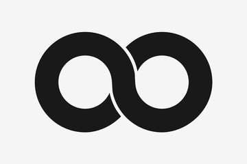 Infinity symbol icon vector illustration. Flat design infinity sign for web graphic or future concept