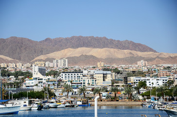 Views of the city of Eilat, Israel