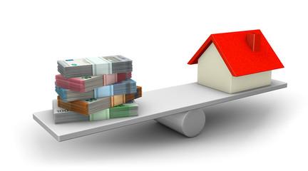 Gleichgewicht Geld & Haus