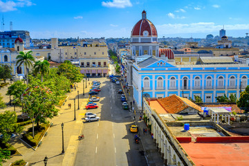 aerial view of the square in the Cuban capital of Havana