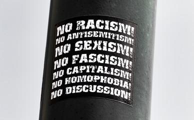 Say No Protest Sticker