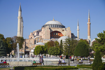 Hagia Sophia Museum aka Aya sofya Mosque in istanbul