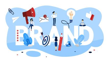 Brand concept. Unique design of a company