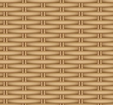 Vector seamless texture of a wicker basket.