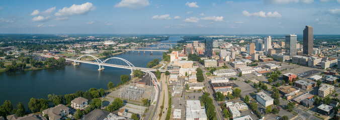 Aerial Downtown Little rock Arkansas USA