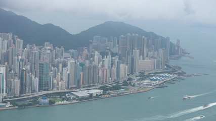 many modern buildings and skyscrapers at hk