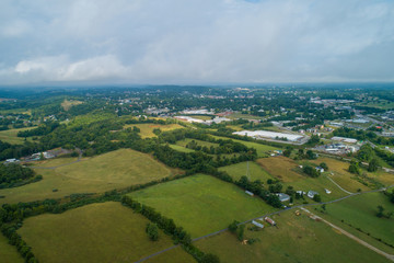 Aerial drone image of Wytheville Virginia