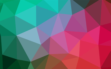 Light Green, Red vector low poly layout.