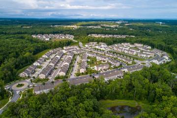 Residential neighborhood Aberdeen Maryland USA