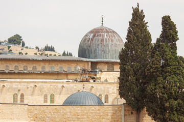 Two ancient domes on temple mount