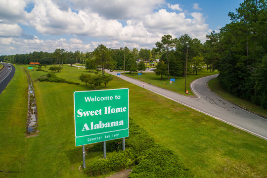 Aerial photo Welcome to Sweet Home Alabama USA