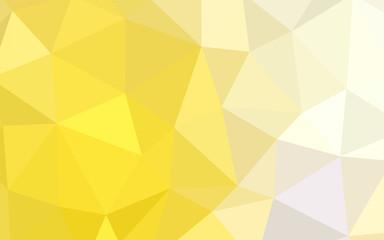 Light Yellow vector shining triangular backdrop.