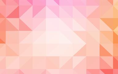 Light Pink, Yellow vector shining triangular cover.