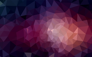 Dark Purple vector shining triangular cover.