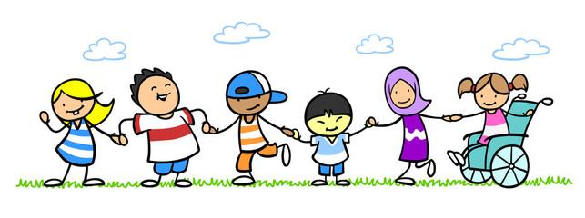 Integration und Inklusion durch multikulturelle Kinder