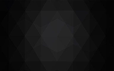 Dark Gray vector shining triangular layout.