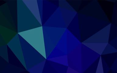 Dark Blue, Green vector shining triangular cover.