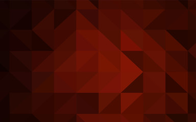Dark Red vector low poly layout.