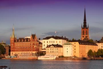 Stockholm city sunset