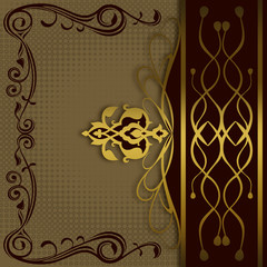 Wall Mural - Luxury vintage background for design.