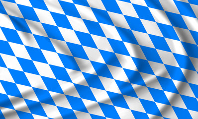 The Bavarian flag waving from the wind; proudly fluttering in the wind Wall mural
