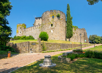 Scenic view of historic Castle in Gorizia, Italy