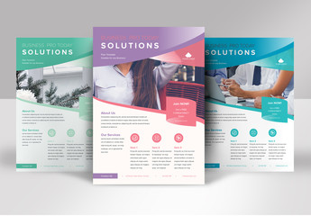 Business Flyer Layout with Gradients