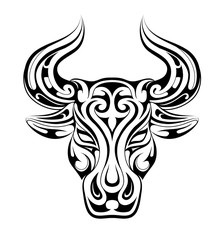 Taurus tattoo as zodiac symbol
