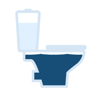 Toilet overflowing icon