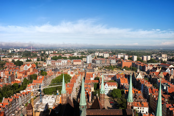 City Of Gdansk Aerial View In Poland