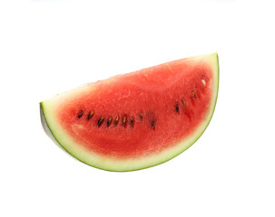 Sliced of watermelon isolated on white background with clipping path.