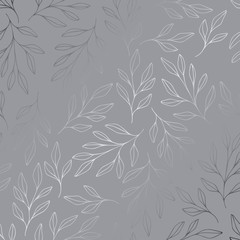 Silver background with branchesGray abstract pattern