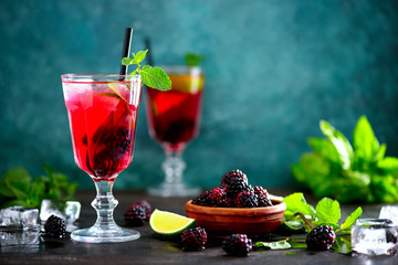 Bramble drink, front view