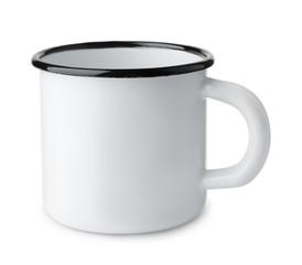 White blank enamel mug