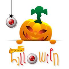 Happy Halloween banner. Halloween night design vector. Happy Halloween greeting card.