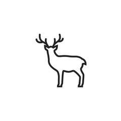 Deer Outline Icon Vector
