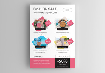 Business Product Sales Flyer Layout