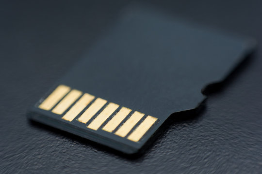 Micro sd card close up