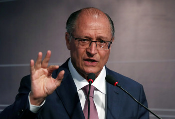 Presidential candidate Geraldo Alckmin of Brazilian Social Democratic Party (PSDB) attends an event in Sao Paulo