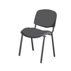 Vector isolated image of a standard office chair side view