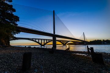 Coucher de soleil sur le pont de l'Iroise
