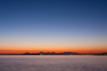 Sunset from Cap d'Antibes, France